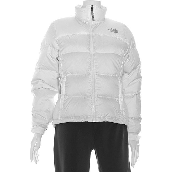 b3d2e4b17e Shop The North Face Women s White Nuptse Jacket - Free Shipping Today -  Overstock - 4571585