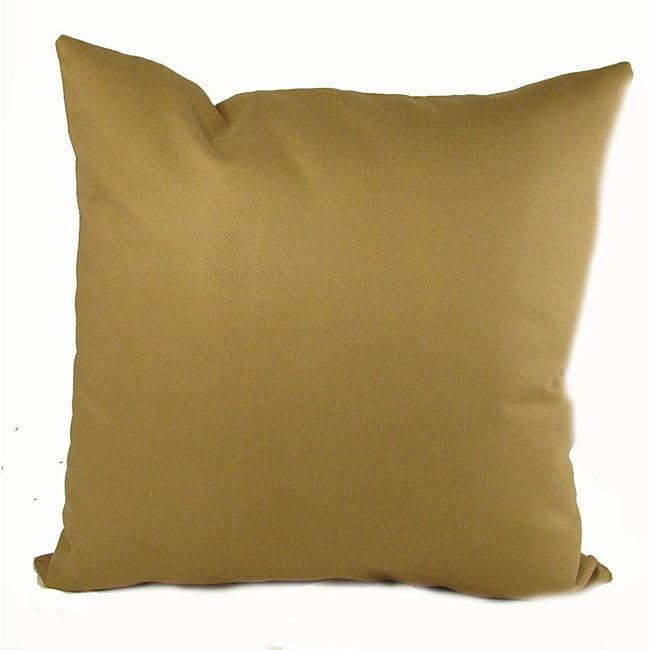 Ultra Twill Wheat 16-inch Throw Pillows (Set of 2)