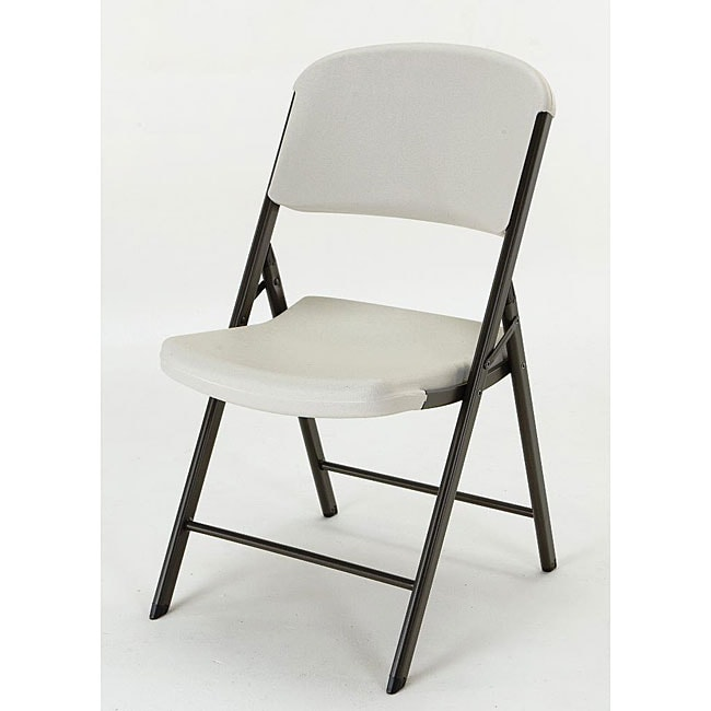 Lifetime Almond Folding Chairs Pack of 4 Free Shipping Today Overstock