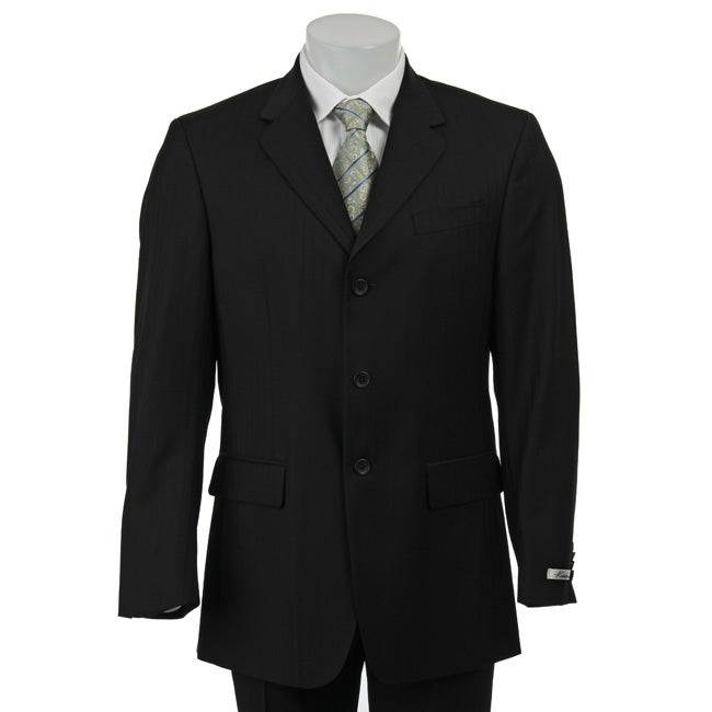 Kenneth Cole New York Slim Fit Collection Men's Black Wool Suit