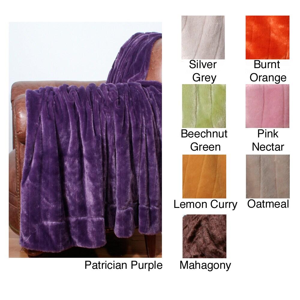 Faux Mink Fur Decorative 50x60-inch Throw Blanket