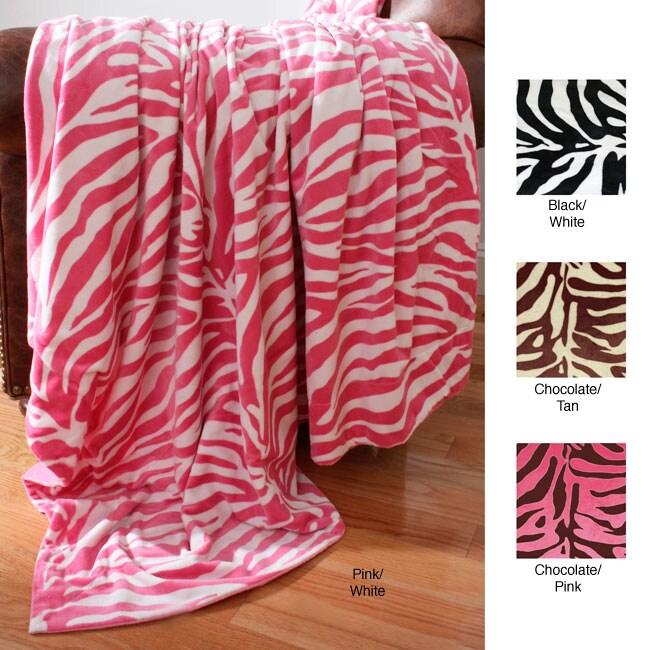 Zebra Animal Print Microluxe Throw Blanket