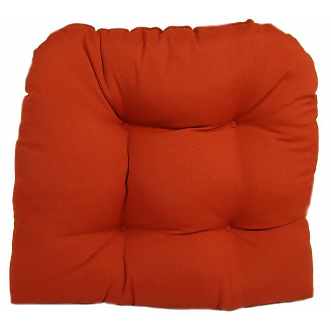 Solid Terracotta Outdoor UV Resistant U Shaped Chair Cushion