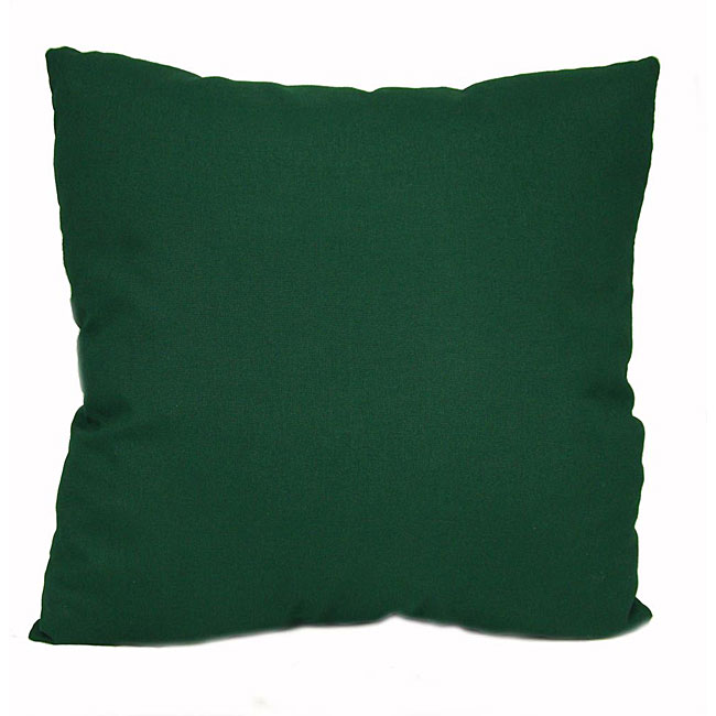 shop dark green outdoor uv resistant decorative pillows set of 2 free shipping on orders. Black Bedroom Furniture Sets. Home Design Ideas