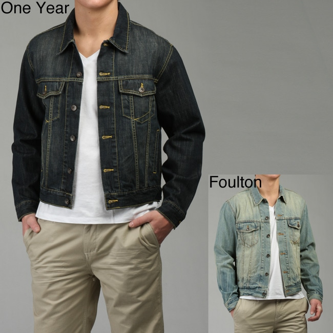 5becadbdbd6 Shop Paper Denim   Cloth Men s Button Closure Denim Jacket - Free Shipping  On Orders Over  45 - Overstock - 4583174