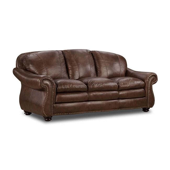 Norway Plains Top Grain Split Leather Sofa Free