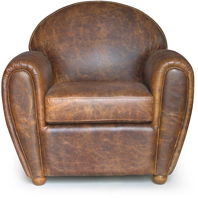 Classic Cigar Style Vintage Leather Club Chair Free
