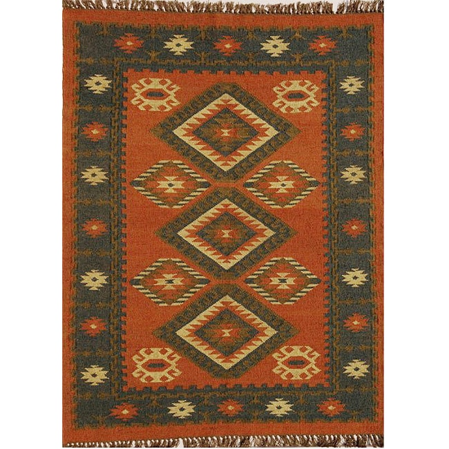 Shop Hand Woven Wool Jute Rug 8 X 10 6 On Sale