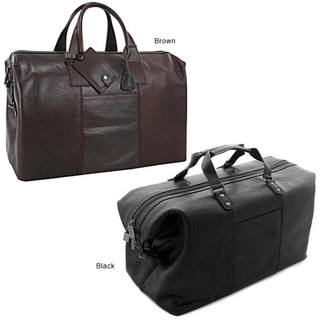 Thumbnail Kenneth Cole Designer Executive 24-inch Leather Duffel Bag ... 47aa90d8303f6