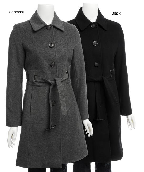 Via Spiga Women's Wool Belted Button-front Coat
