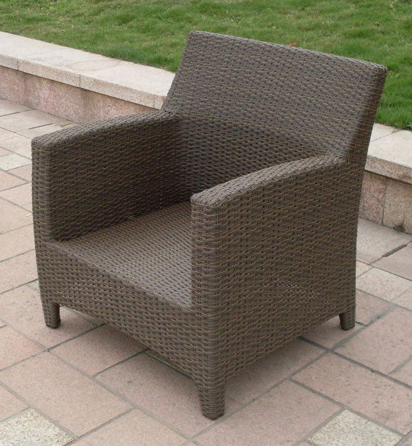 Clara Woven Wicker Outdoor Lounge Chair