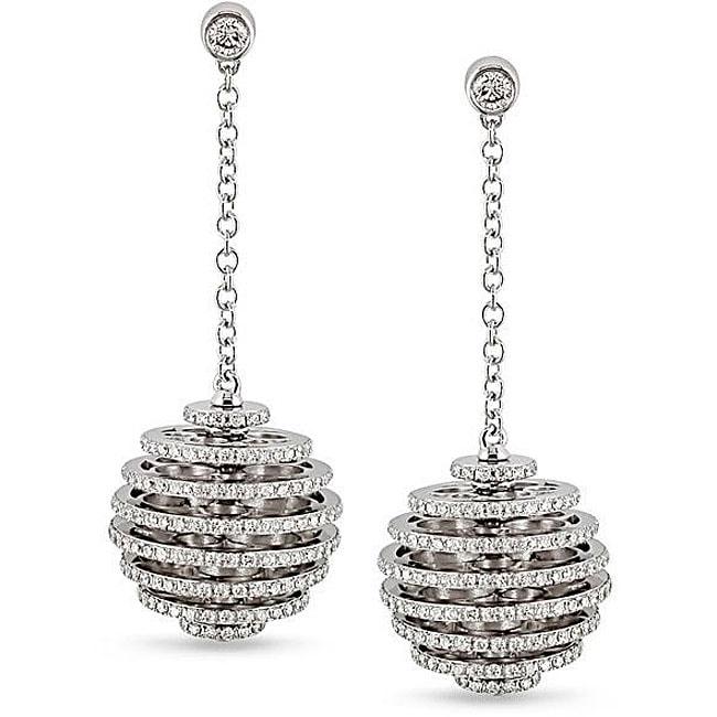 Miadora 18k White Gold 1 1/2ct TDW Diamond Ball Earrings (G-H, I1)