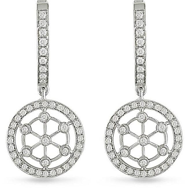 Miadora 18k White Gold 5/8ct TDW Diamond Circle Earrings (G-H, I1)