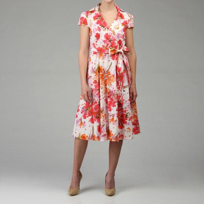 Karin Stevens Women's Printed Wrap Dress