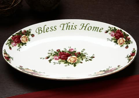 Royal Albert 'Old Country Roses' 'Bless This Home' Platter