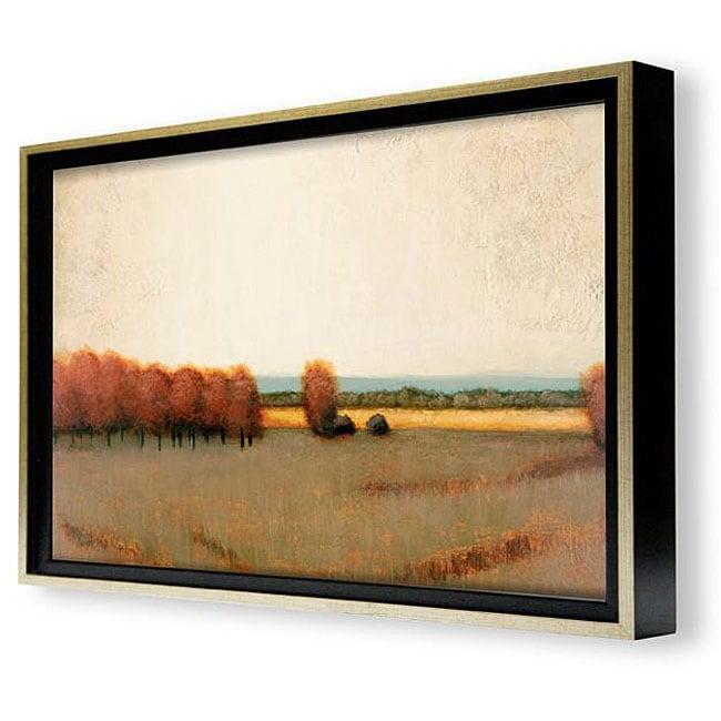 Shop Gallery Direct St. John \'Sunlit Field\' Framed Canvas Art - Free ...
