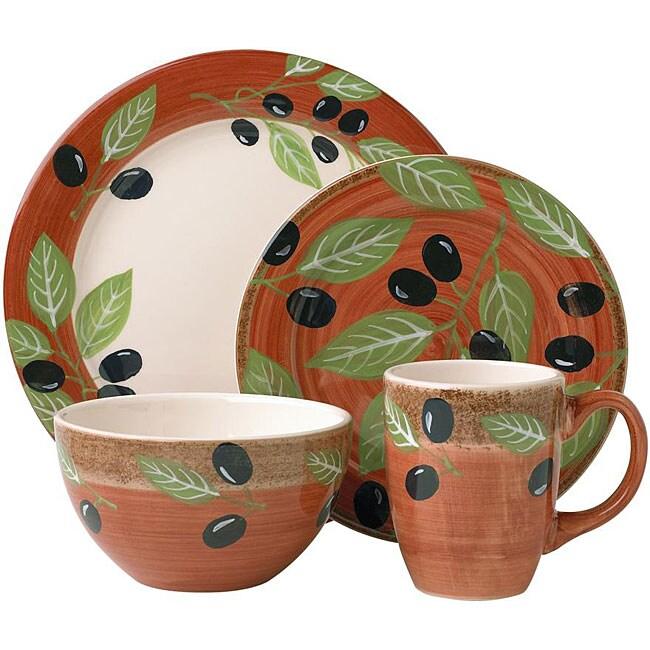 Pfaltzgraff Everyday 16-piece Olive Branch Dinnerware Set