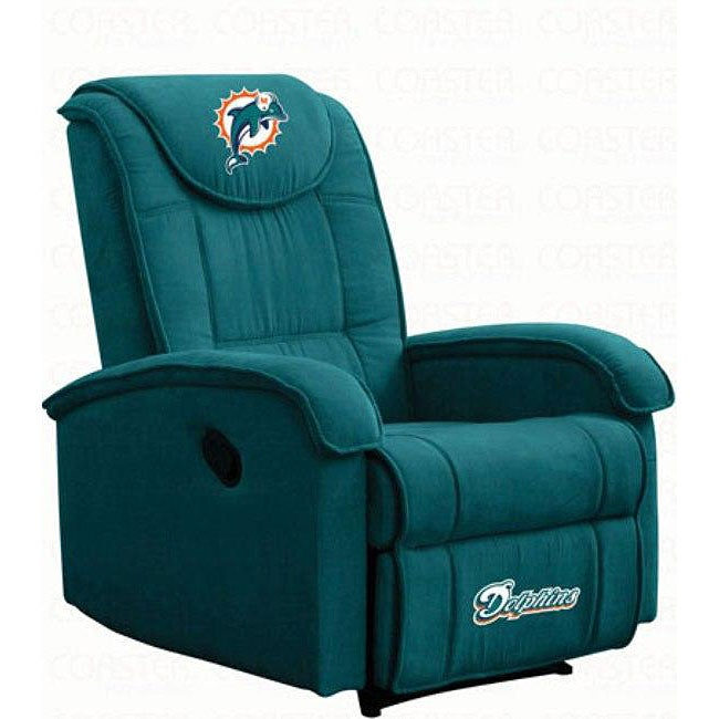 miami dolphins microfiber recliner - free shipping today