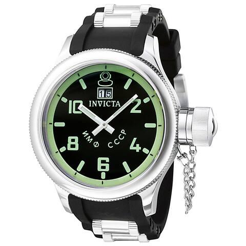 Invicta Men's Russian Diver Black Rubber Strap Watch