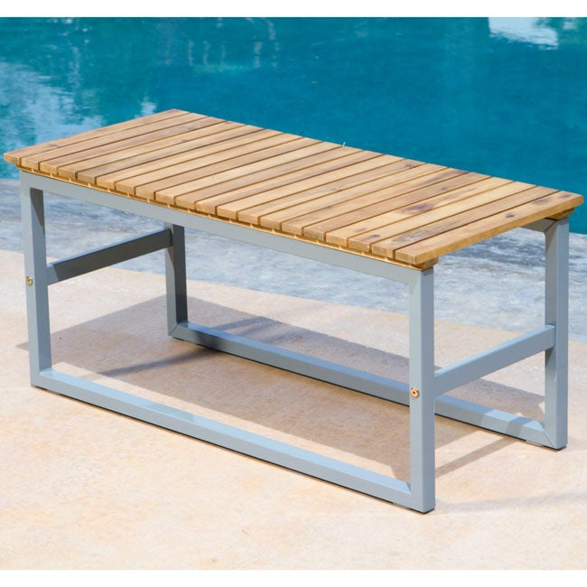 Portico Outdoor 35-inch Bench - Thumbnail 0