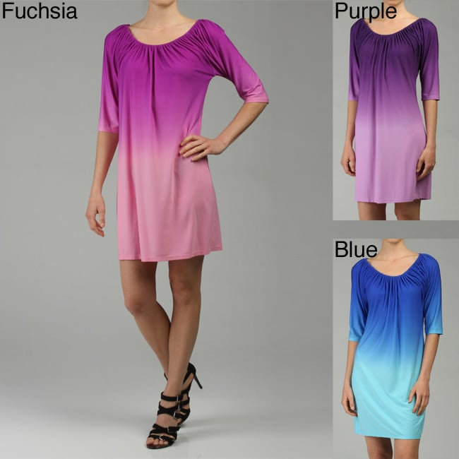 052c50fba321 Shop Tiana B. Women s Scoop Neck Ombre Jersey Dress - Free Shipping On  Orders Over  45 - Overstock - 4608909