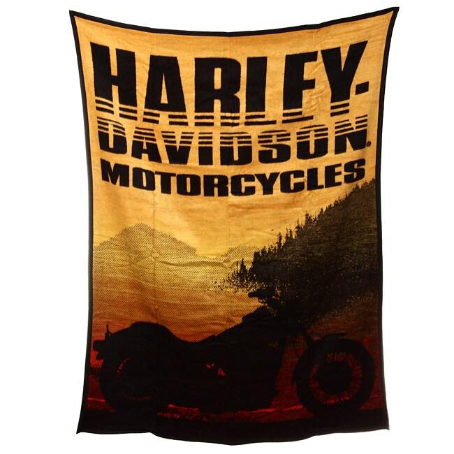 Harley Davidson Sunset Throw