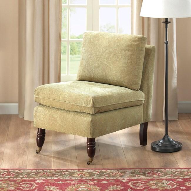 Bordeaux Celery Green Paisley Chair