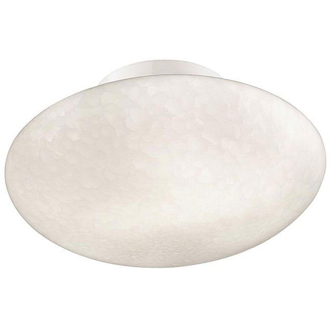 White Cirrus Contemporary Flush-mount Ceiling Lighting Fixture