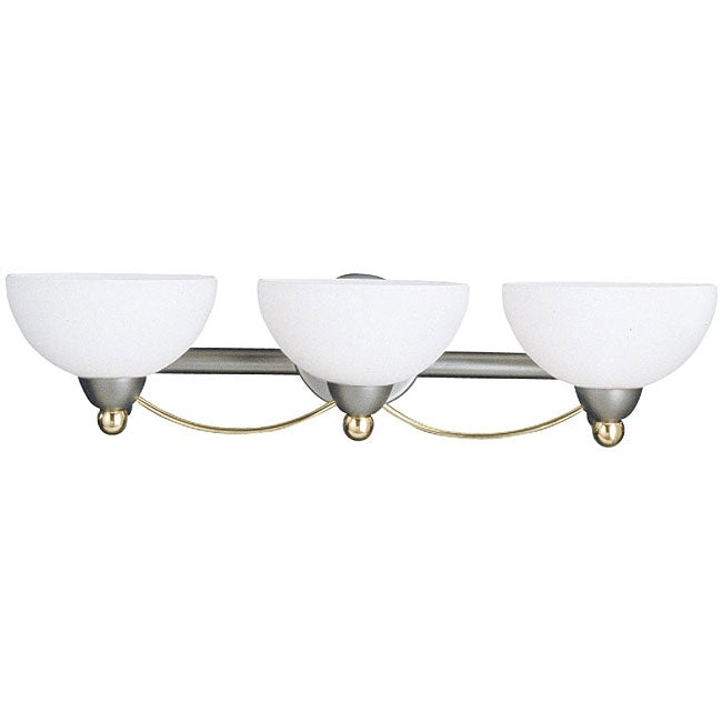 Candella 3-light Silver Bathroom Fixture