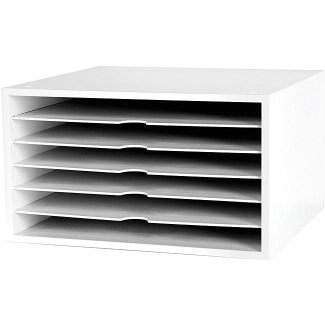 Doodlebug Designs White 6-shelf Paper Storage Cube