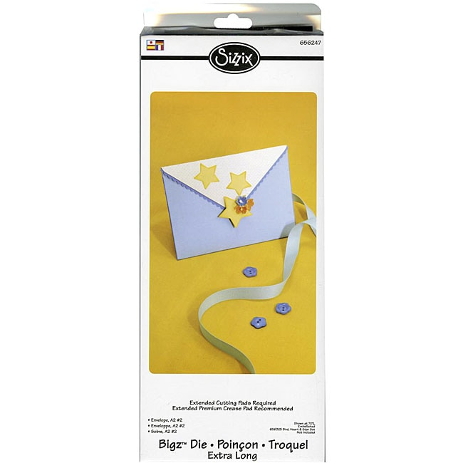 Sizzix Bigz XL BIGkick Big Shot Starry Envelope Die