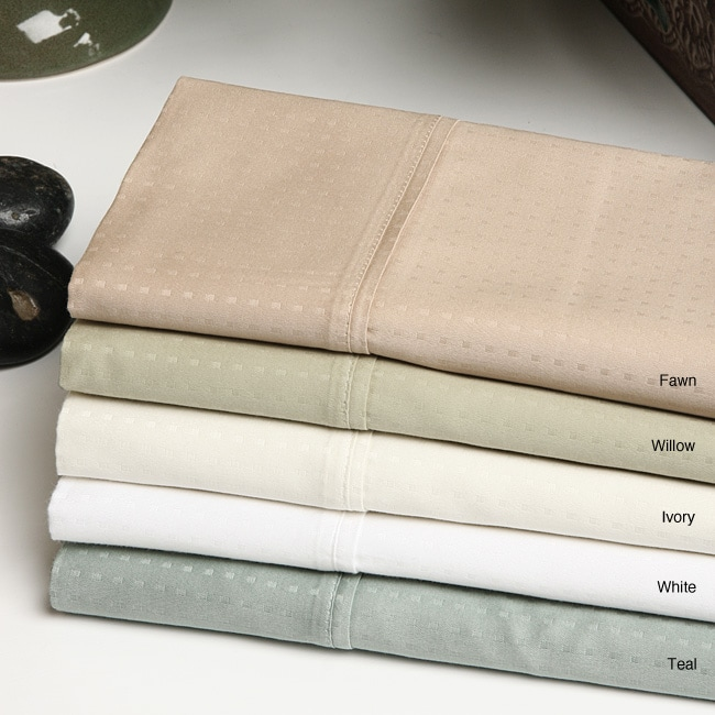 Majestic 400 Thread Count Dobby Dot 6-piece Sheet Set
