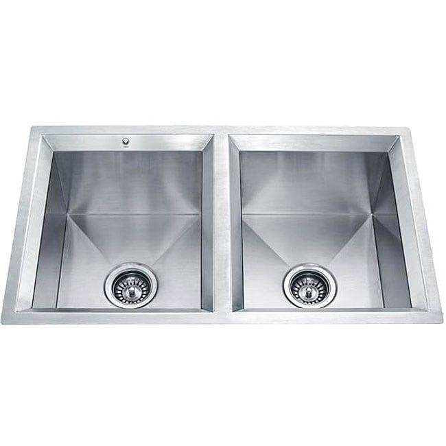 Vigo Offset 16-gauge Stainless Steel Undermount Kitchen Sink