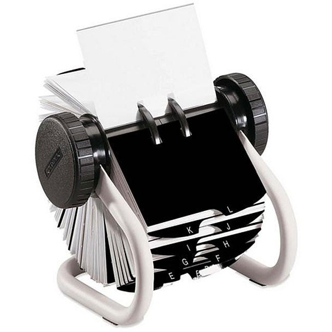 Rolodex White Rotary Business Card File Free Shipping On Orders