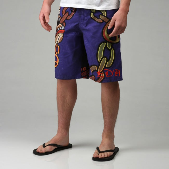 444a6bd16a Shop Ed Hardy Men's Gangsta Bully Board Shorts - Free Shipping On Orders  Over $45 - Overstock - 4656717