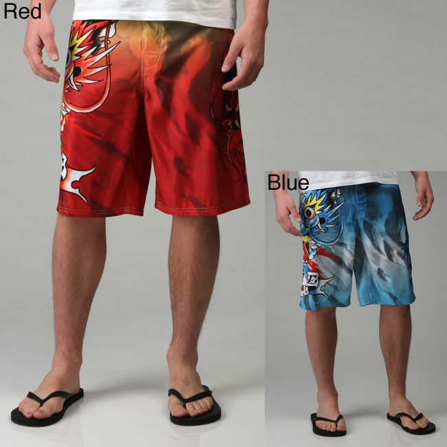 341d2350da Shop Ed Hardy Men's Alive Board Shorts - Free Shipping On Orders Over $45 -  Overstock - 4656726