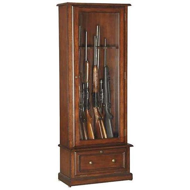 American Furniture Classics 800 Wood 10 Gun Cabinet Free
