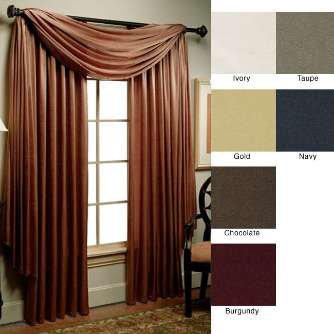 Olympia Silky Soft Curtain 95-inch Panel Pair