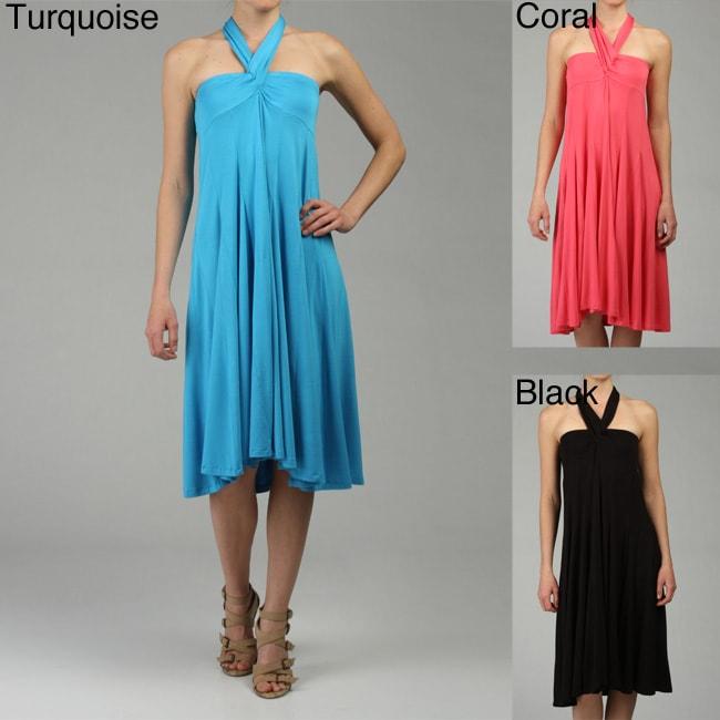 Lapis Women's Convertible Knit Tie Waist Skirt