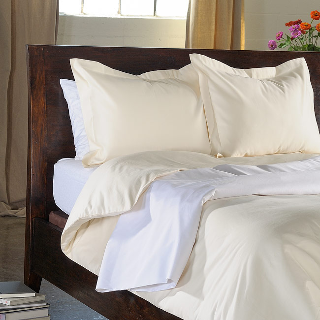 Royal Heritage Solid 1200 Thread Count Egyptian Cotton Duvet Cover Set