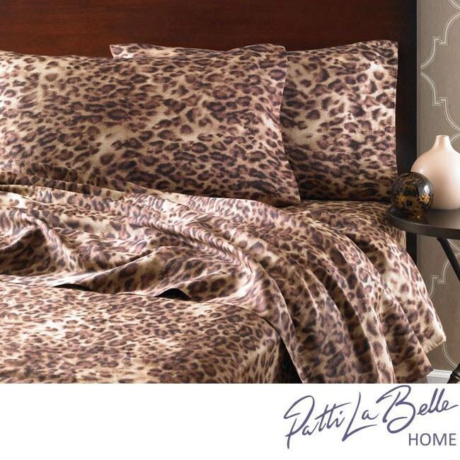 Patti Labelle Leopard 4-piece Sheet Set