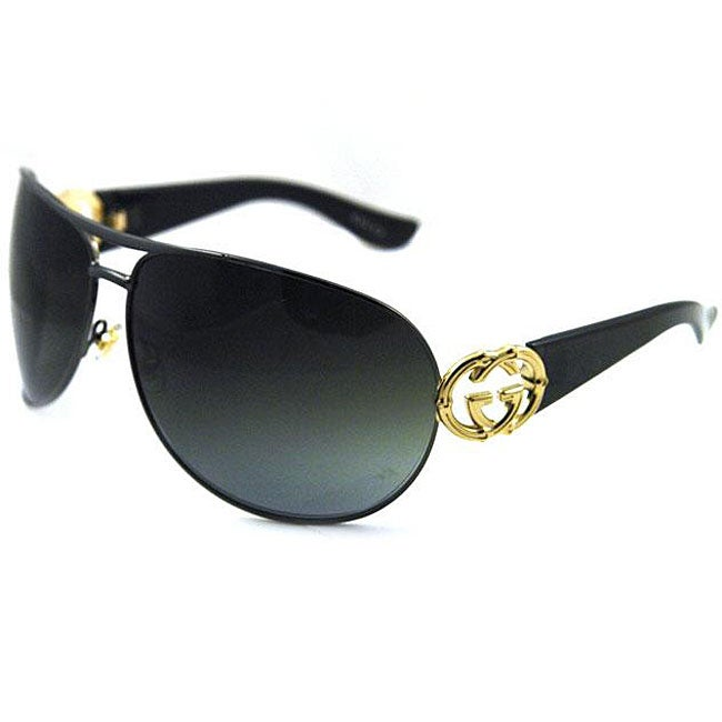 fd8016b7c1932 Shop Gucci Women s  GG 2834  Oversized Aviator Sunglasses - Free Shipping  Today - Overstock - 4662831