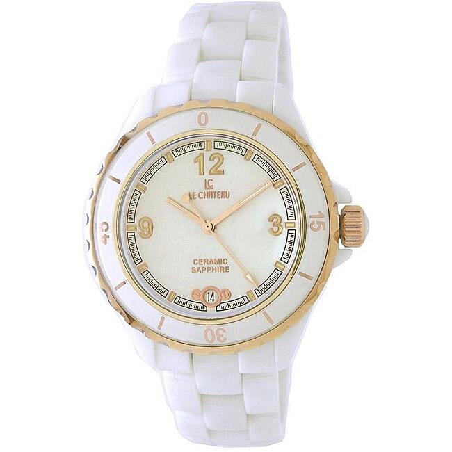 Le Chateau Women's Condezza LC White Ceramic Watch