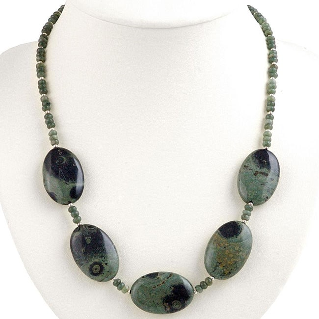 Silver and Agate Necklace (Thailand)