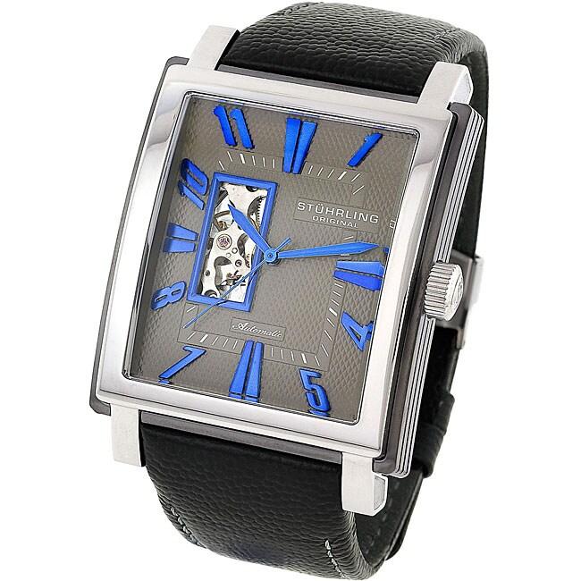 Stuhrling Original Men's 'Metropolitan' Grey Dial Automatic Watch