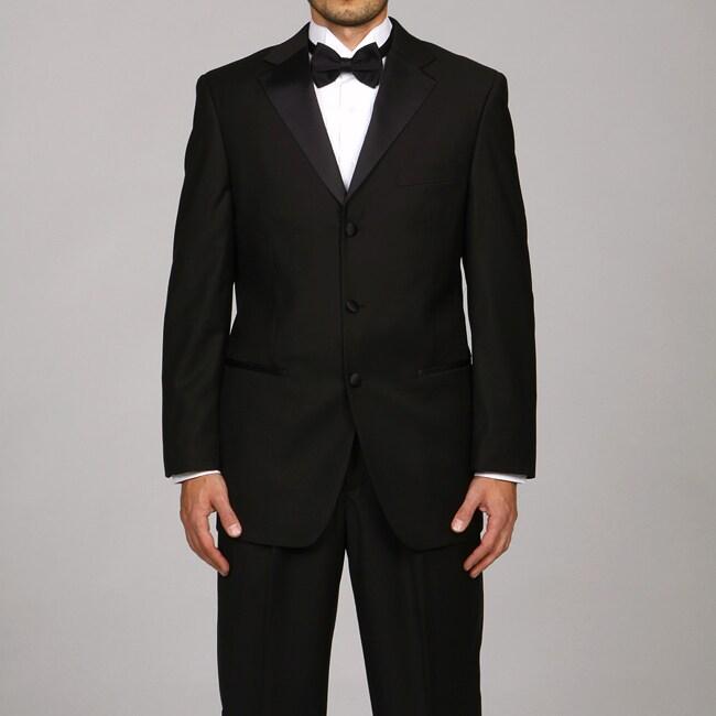 Caravelli Italy Men's Black Three Button Tuxedo FINAL SALE