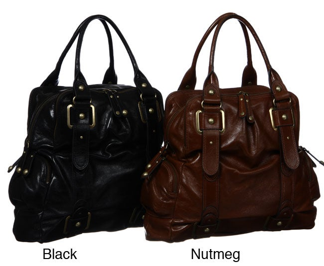 42391dfd1309 Shop Hype  Ella  Leather Tote Bag - Free Shipping Today - Overstock.com -  4676214