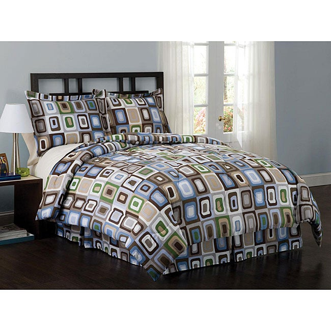 Square Dot 7-piece Comforter Set - Thumbnail 0