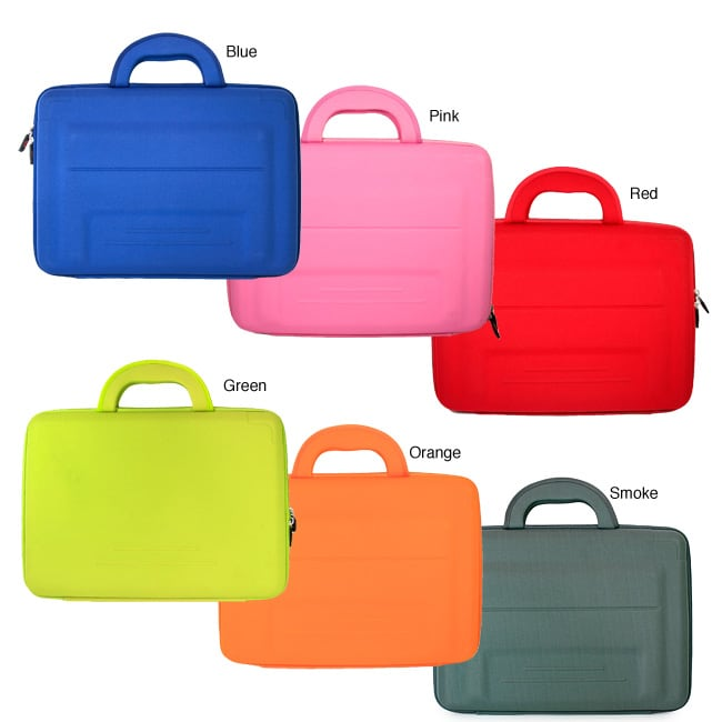Kroo Briefcase-style EVA and Neoprene 13-inch Cube Laptop Sleeve - Thumbnail 0