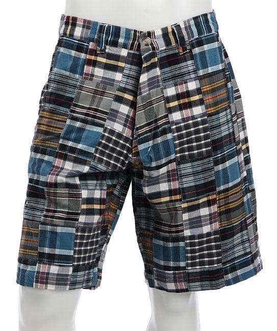 Siegfried Vintage Men's Patchwork Plaid Shorts